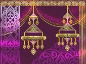 Kazakh earrings, a wedding gift from the Kazakhs — Stock Vector