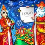 Snow Maiden, Santa Claus Christmas — Stock Vector #58848805