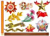 May 9 Victory, May 9 Victory Day, May 9 Victory celebration card on May 9 May 9 parade — Stock Vector