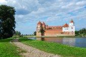 Belarus, Grodno region. Road to the Mir Castle — Stock Photo