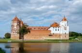 Belarus, Mir Castle, view from the lake — Stock Photo