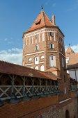 Belarus. Tower of Mir Castle  — Stock Photo
