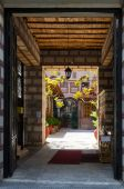 Greece, Thessaloniki, Monastery of St.Theodora Thessalonica, ent — Stock Photo