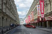 Moscow, the children GUM, Vetoshny lane — ストック写真