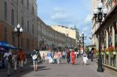 Walks on the Old Arbat in Moscow — Стоковое фото