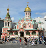 Moscow. The Kazan Cathedral on Red Square — Stock Photo