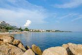 Greece, Nea Kallikratia, views of the coast from the old pier — Stock Photo