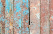 Fragment of a wooden fence with cracked paint — Stock Photo