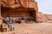 Jordan, Petra, a gift shop near the royal tombs — Stock Photo