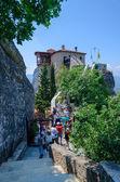 Greece, Meteors, the climb in the female monastery of St. Barbara — Stock Photo