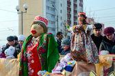 Shrovetide dolls — Stock Photo