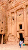Jordan, Petra, the royal tomb — Stock Photo