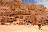 Jordan, Petra, ancient necropolis carved into the rock — Stock Photo