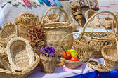 Wicker products from a rod — Stock Photo