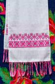 Belorussian towel with vintage ornament — Stock Photo