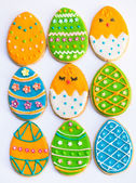 Huevos de Pascua galletas decoradas — Foto de Stock
