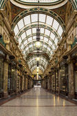 Shopping arcade in Leeds UK — Stock Photo