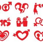 Man Woman Relationship Vector Icon Set — Stock Vector #51899663
