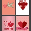 Four Designs for Valentines Day Greeting Cards and Posters — Stock Vector #52277805