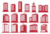 High Rise Buildings Vector Icon Set  — Vecteur