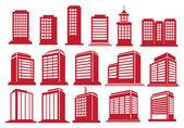 High Rise Buildings Vector Icon Set  — Vecteur