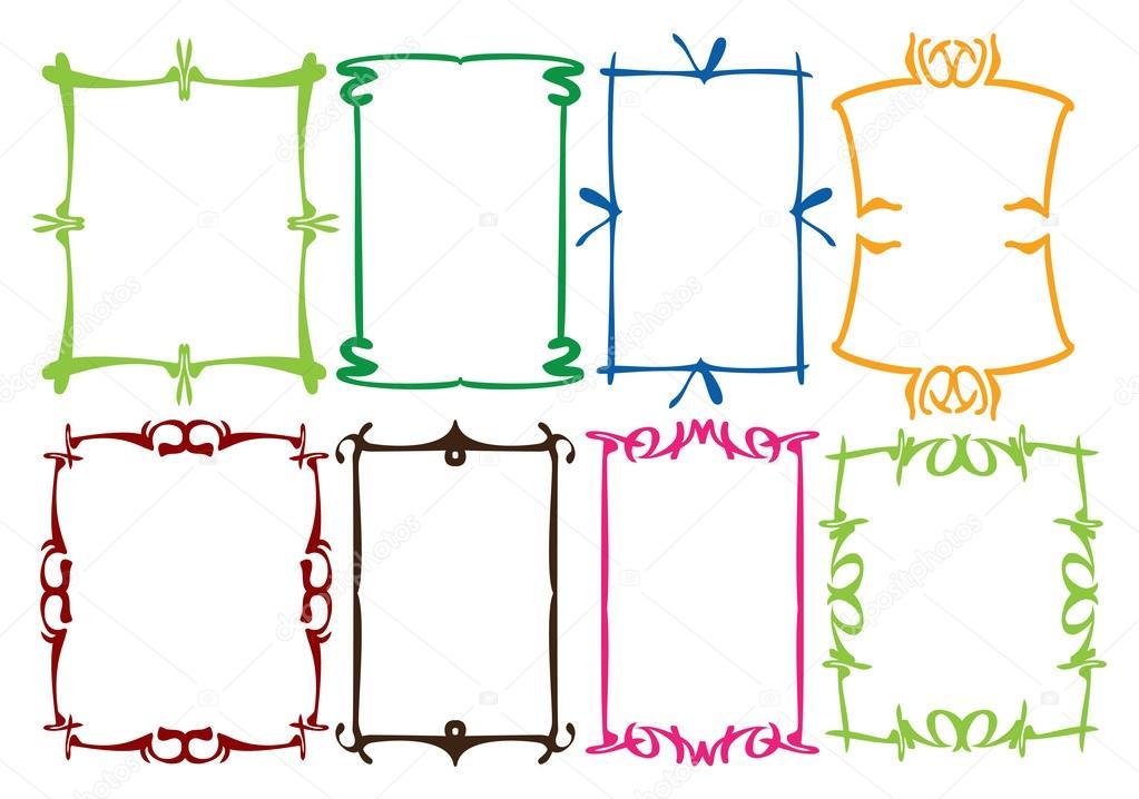 Simple border designs stock vector hofred 52946829 for Illustration minimaliste