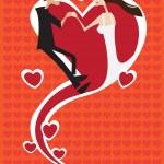 Man Woman in a Heart Shape Vector Illustration — Stock Vector #53803593