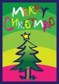Illustration Christmas tree — Stock Vector