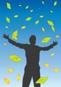钱下落从天空矢量图 — 图库矢量图片