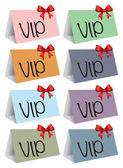 VIP colorful cards — ストックベクタ