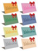 Vector welcome cards — Vector de stock