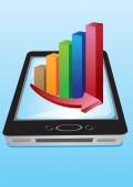 Vector stock charts Handphone — Stock Vector