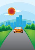 Car escape for the city — Vetorial Stock