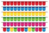 Small colors flags — Stock vektor