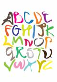 Colorful Squiggle Vector Fonts  — Stock Vector
