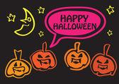Pumpkin Gathering for Halloween Night — Stock Vector