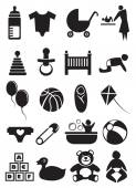 Baby Stuff Icon Set — Stock Vector