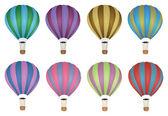 Colourful Hot Air Balloon Vector — Stock Vector