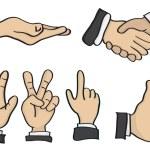 Cartoon Hand Gestures Vector Illustration — Stock Vector #60493007