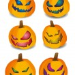 Pumpkins for Halloween. — Vector de stock  #62049685