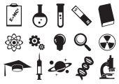 Science Education Vector Icon Set — 图库矢量图片