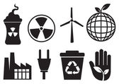 Enviromental icons — Stock Vector
