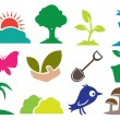 Ecology and Natural icons — Stock Vector #64724471