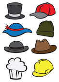 Vector illustrate hats — Vector de stock