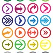 Round Arrow Vector Icon Set Isolated on white — Stock Vector #67950803