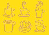 Minimalist Hot Coffee in Cup Vector Design — Stock Vector