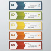 Design clean number banners template. Vector. — Stock Vector