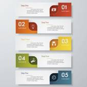 Design clean number banners template Vector. — 图库矢量图片