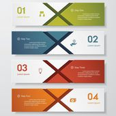 Design clean number banners template. Vector. — Vettoriale Stock