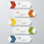 Design clean number banners template. Vector. — Stockvektor
